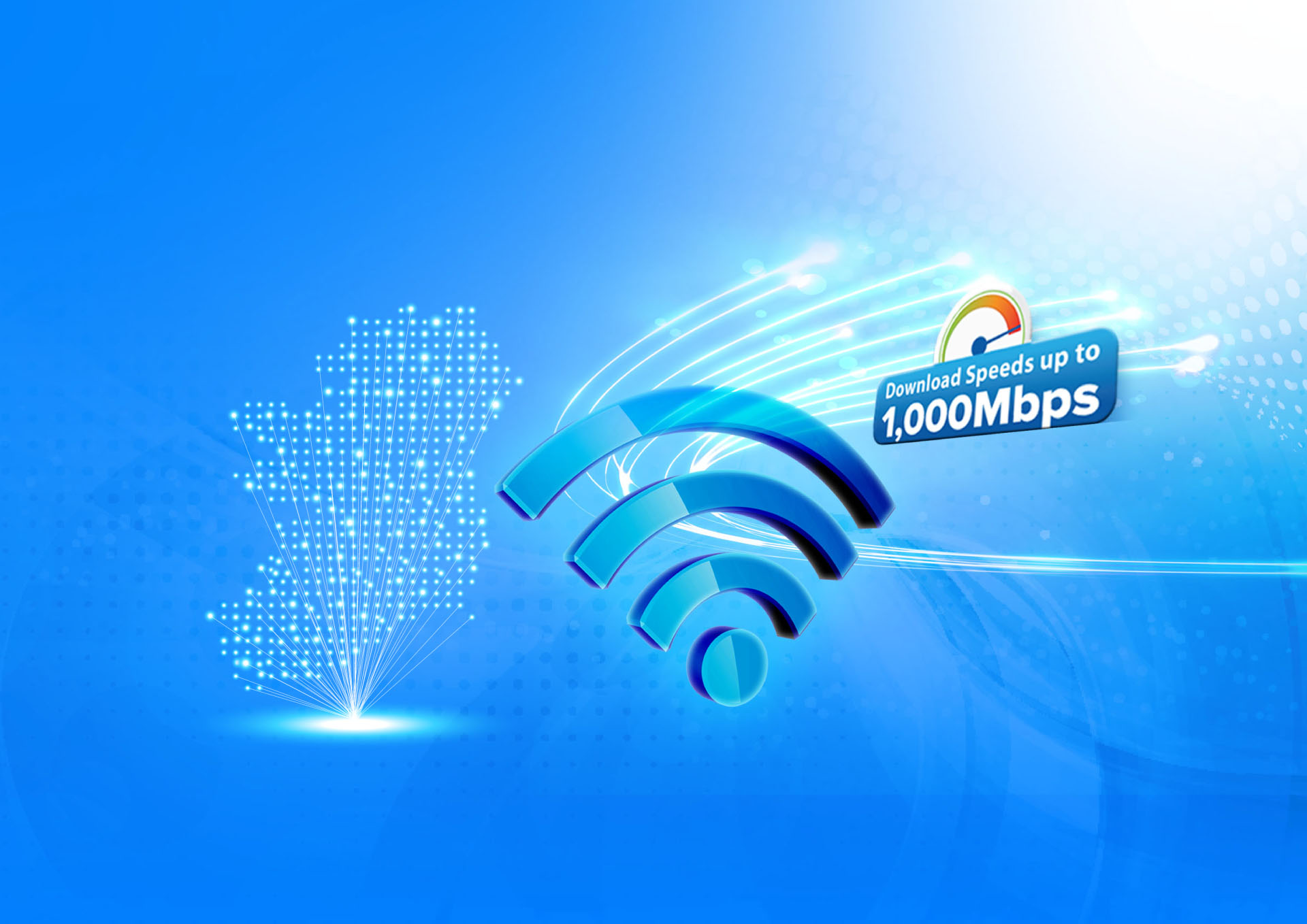 Speeds up your internet with 1000Mbps broadband from €10 p/m