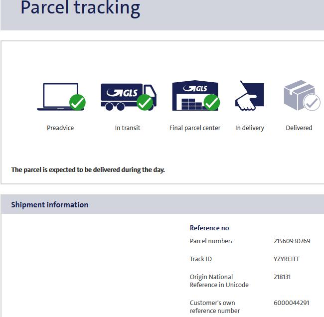 GLS Parcel Tracking