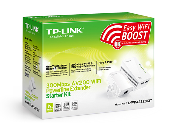 Easy WiFi boost with TP Link WiFi Powerline Extender from Digiweb