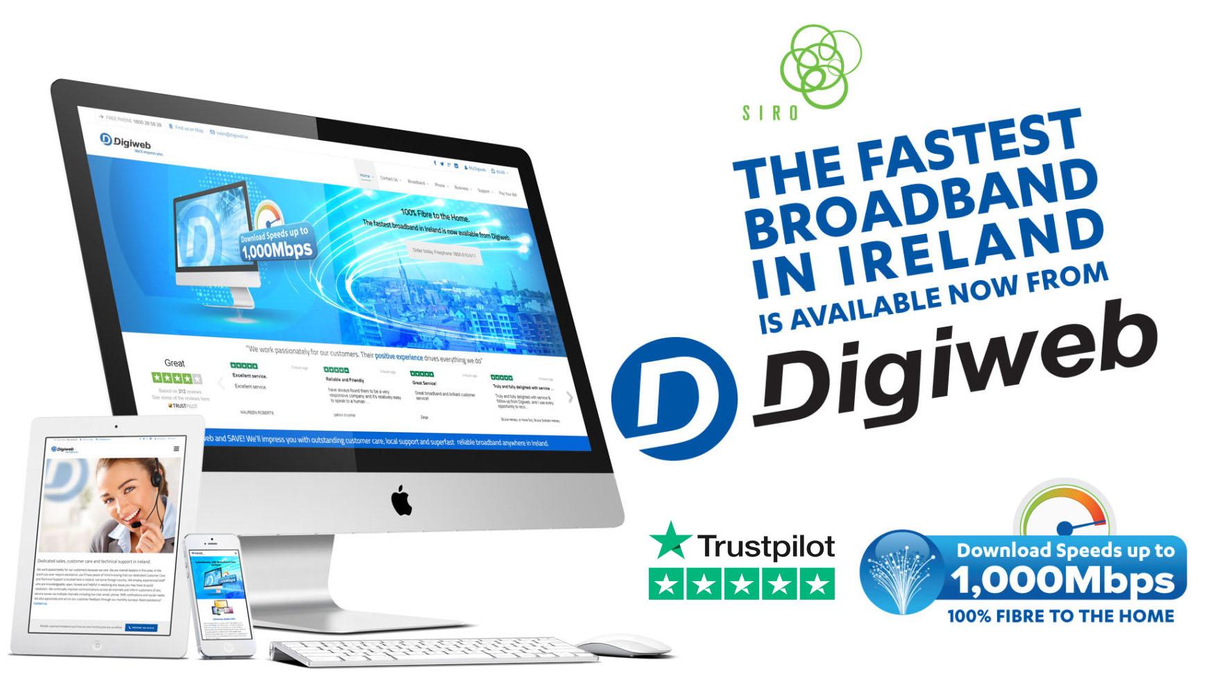 Gigabit Broadband from Digiweb